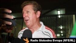 Англия құрамасының жаңа бас бапкері Рой Ходжсон. Македония, 29 шілде 2010 жыл.