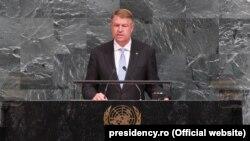 Intervenţia preşedintelui român Klaus Iohannis la Adunarea Generală ONU de la New York