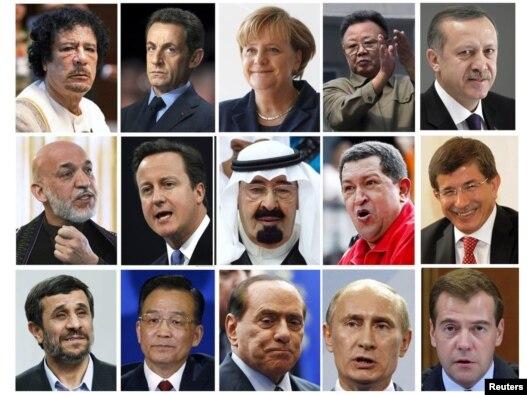 تصاویری از رهبران جهان همراه با  وزیر امور خارجه ترکیه (نفر اول راست- ردیف دوم)
