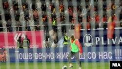 Македонската репрезентација во фудбал ја совлада Србија со 1:0 во квалификациите за Светското првенство во Бразил во 2014.