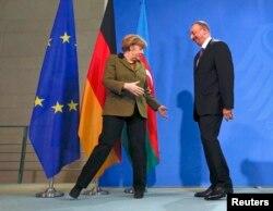 Almaniya - Almaniya kansleri Angela Merkel və Azərbaycan prezidenti İlham Əliyev, 27 yanvar, 2015
