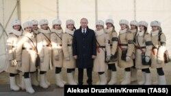 Владимир Путин на открытии исторического музея в Волгограде, 2018 год