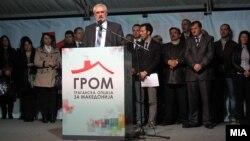 Претседателскиот кандидат на ГРОМ Зоран Поповски.