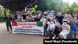 Протест у консульства Туркменистана в Стамбуле. 19 июля 2020 года.