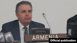 Հայաստանի դեսպան Կարեն Նազարյանը ելույթ է ունենում ՄԱԿ-ի Անվտանգության խորհրդում, արխիվ