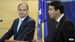 Изјава за медиумите на министрите за надворешни работи на Македонија и Косово Никола Попоски и Енвер Хоџај.