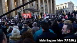"""Митинг в поддержку телеканала """"Рустави-2"""""""