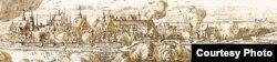 Эрык Дальбэрг. Панарама Берасьця. 1696