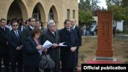Кипр - Церемония установки камня-креста (хачкара), Никосия, 16 марта 2016 г.