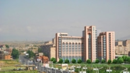 Armenia -- A new residential building in Yerevan's Davitashen district.