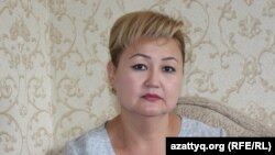 Жанетта Жазыкбаева, председатель общественного фонда «Защитим детей от СПИДа». Шымкент, 14 июня 2017 года.