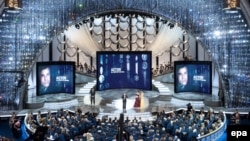 A scene from the 82nd Annual Academy Awards in Hollywood in 2010