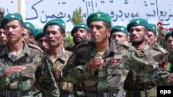 Afghan Army soldiers during a graduation ceremony in Kabul earlier this year