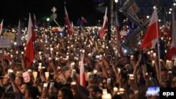 Акция против реформы Верховного суда в Польше. Варшава, июль 2017 года.