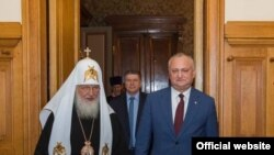 Preșdintele Igor Dodon și patriarhul Kirill, Moscova, 19 decembrie 2019
