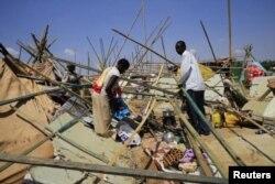 Беженцы-нуэр, представляющие этническое большинство в Южном Судане