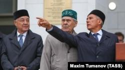 Фарид Мухаметшин, Минтимер Шаймиев и президент Татарстана Рустам Минниханов