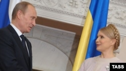 Vladimir Putin met with his Ukrainian counterpart, Yulia Tymoshenko, in Yalta.