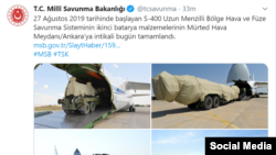 Turkish Defense Ministry's twitter page, 15 Sep2019