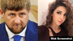 Рамзан Кадыров и Мириам Фарес (коллаж)