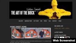 U.S. -- A screenshot of Nathan Sawaya's webpage