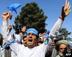 Сторонники кандидата в президенты Абдуллы Абдуллы. Герат, 24 июня 2014 года.