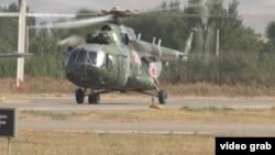 Вертолёт, задействованный в операции по поимке генерала Абдухалима Назарзоды.