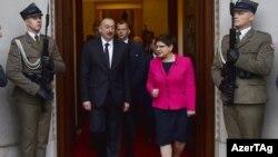 Prezident İlham Əliyev və Polşanın baş naziri Beata Shidlo. 28 iyun 2017