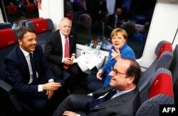 Înalți demnitari europeni prezenți la ceremonia de inaugurare a tunelului feroviar