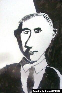 """Prezidentin portreti. 9 yaşlı İvan Dolqopolov (""""Uşaqlar prezident Putinin şəklini çəkir"""" müsabiqəsi)"""