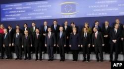 Керівники країн ЄС і євроструктур на початку саміту, 7 лютого 2013 року