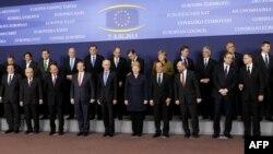 Liderët e BE-së në samitin e Brukselit ku po diskutohet për buxhet