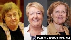 Пэтрушка Шустрава (Чэхія), Гэнрыка Кшывонас-Стрыхарска (Польшча), Магда Вашарыева (Славаччына).