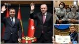 Sadyr Japarov and Recep Tayip Erdogan collage for World and Us TV Program