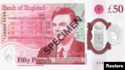 Образец 50-фунтовой банкноты с изображением Алана Тьюринга.