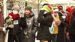 Moscow Women Protest For Release Of Detainees