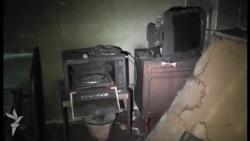 Odun sobası 75 yaşlı qadının evini yandırdı...