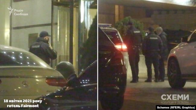 Журналісти зафіксували, як поліцейські зайшли до готелю, і майже одразу залишили заклад