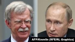 Savjetnik za nacionalnu sigurnost Bijele kuće John Bolton i ruski predsjednik Vladimir Putin