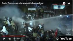 """""""Zaman"""" qəzetinin tərəfdarları polislə toqquşublar"""
