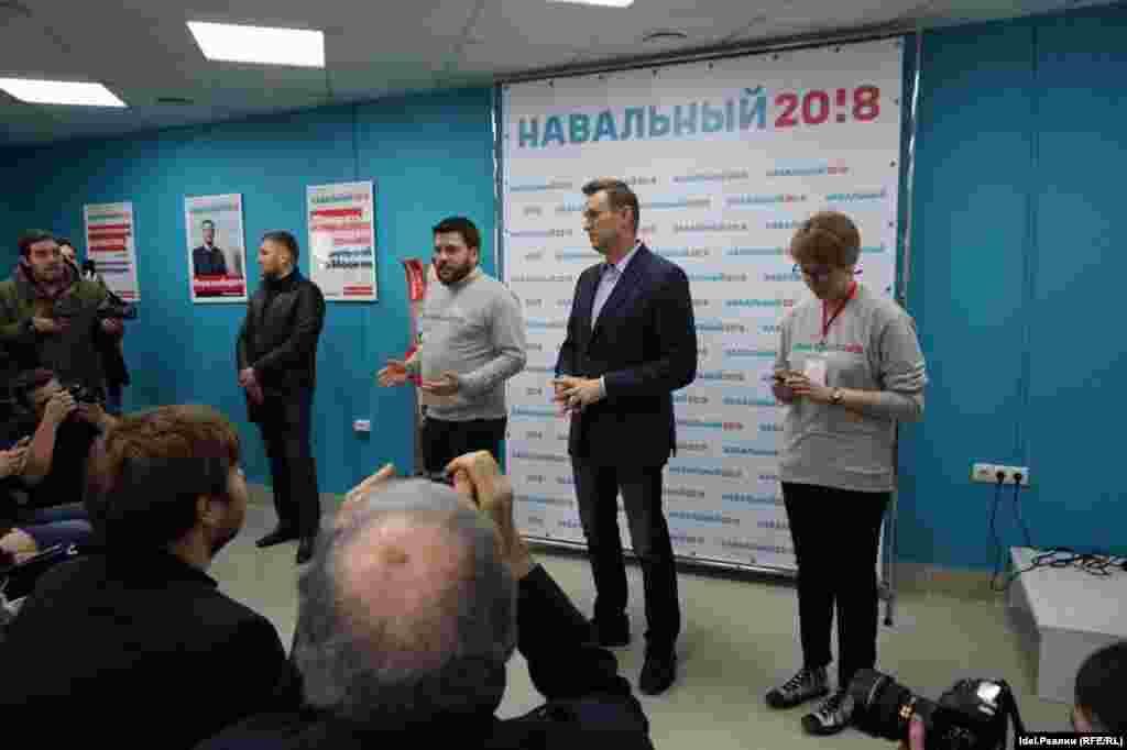 Столица Татарстана стала шестым городом, в котором открылся избирательный штаб Навального