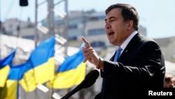 Михаил Саакашвили на митинге в Киеве. Март 2014 года