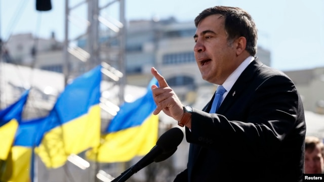 Former Georgian President Mikheil Saakashvili denies any wrongdoing.