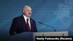 Президент Лукашенко выступает перед парламентом. Минск, 4 августа 2020 года.
