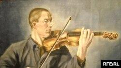 """Подопличко Г.И. """"Лагерный скрипач"""", 1953 год, выставка """"Времена не выбирают"""""""