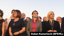 Premijerka Srbije Ana Brnabić (u sredini), predsednica Narodne skupštine Maja Gojković (levo) i ministarka Zorana Mihajlović