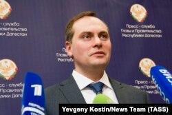 Артем Здунов, назначенный на должность председателя правительства Республики Дагестан. Махачкала, 7 февраля 2018 года