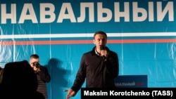Алексей Навальный на митинге в Астрахани, Россия, октябрь 2017 год
