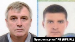 Two of the Russians implicated Denis Sergeyev (aka Sergei Fedotov, left) and Yegor Gordiyenko (aka Georgy Gorshkov) have been accused in absentia of poisoning Bulgarian arms dealer Emilian Gebrev. (Photo distributed by the Bulgarian prosecutor's office.)