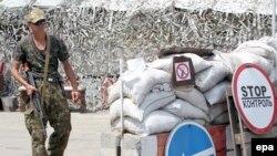 Донецк облысындағы ресейшіл сепаратист. 23 шілде 2014 жыл.